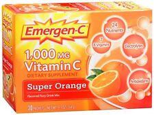 Emergen-C Vitamin C Drink Mix Packets Super Orange 30 Each (Pack of 2)