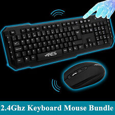 ARES T1 Optical USB Nano Receiver Wireless Keyboard and Mouse Mice Bundles Combo