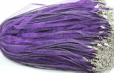5Pcs Organza Ribbon Necklace Cord With Lobster Clasp For DIY Jewelry Making 48cm