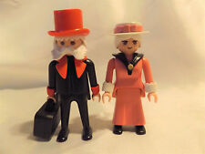 Playmobil Victorian Grandma and Grandpa, Hats for 5300 Mansion Doll House People