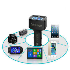 High Quality 4 In 1 Dual USB Car Charger Adapter DC 5V 3.1A Tester For IPhone