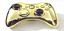 Custom chrome gold FUL L shell & pièces pour xbox 360 wireless controller mod kit