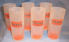 6 Absolut Mandrin Vodka Whiskey Liquor Advertising Bar Tavern Shot Shooter Glass