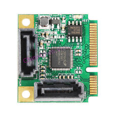 Mini PCIe Express to 2 Dual Port SATA 3.0 6G Converter Controller Card Adapter