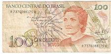 Brasil : 100 Cruzados Novos ND 1989 ( usado )