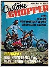 CUSTOM CHOPPER OCTOBER 1971 NORCAL DIGGERS 70's BAY AREA CUSTOM STREET CHOPPERS