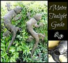 ~METAL 1 METRE TEALIGHT GECKO~Wall Hanging~Tea Light~Candle Holder~Balinese~