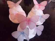 16 PRECUT Pastel Mix 2 Edible wafer/rice paper Butterflies cake/cupcake toppers