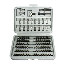100PC Star Bit Set Security Torx Tamper Screws Hex Key Phillips Slotted Tri Wing