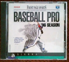 Front Page Sports: Baseball Pro '96 Season PC Computer Game Excellent!