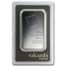 100 gram Valcambi Silver Bar - In Assay - SKU #81996