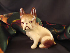 """Vintage French BULLDOG Figurine Shaker 4"""" T Porcelain  #ES3"""