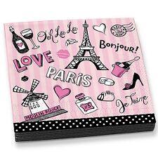 Paris Icons Eiffel Tower Parisian Lunch Napkins