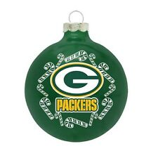 NFL New Green Bay Packers Traditional Ball Christmas Ornament Candy Cane Holiday