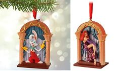 Disney Authentic Roger Rabbit & Jessica 2 Sided Christmas Ornament Figure NWT