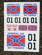 RC General Lee stickers decals idea for 10th scale Dodge Charger models