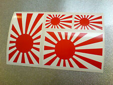 JAPANESE RISING SUN 100mm & 50mm Set of 4 Van Car Bumper Stickers Decals