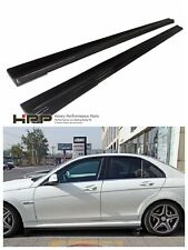 Mercedes Benz W204 C63 AMG side skirt extension spoiler carbon fiber