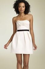 NWT BCBG MAXAZRIA RUNWAY STRAPLESS ROSETTE DRESS SIZE 6 (run small fits 2) $398