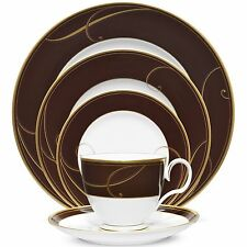 Noritake Golden Wave Chocolate 20Pc China Set, Service for 4
