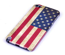 Hülle f Apple iPod Touch 5 5G Schutzhülle Case Cover Tasche USA Amerika Flagge