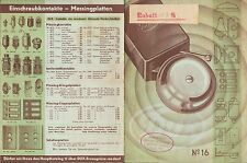 LEIPZIG, Werbung 1940 MONOPOL Elektro-Fabrik DUX 600 wasserfeste Klingel-Platte