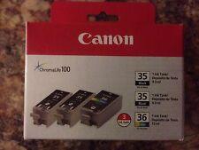 Canon 1509B007 (CLI-36) Ink Black/Tri-Color 3/PK