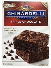 GHIRARDELLI Triple Chocolate Brownie Mix 7.5 lb Large Box 120 oz