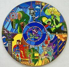 BEAUTY & THE BEAST CASTLE BELLE ADAM STAINED GLASS MOSAIC FANTASY PIN LE 100