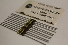   x10   Allen Bradley   Carbon Comp Resistors   RCR20G104JS   100K OHMS 1/2W 5%