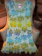 "NWT FRESH PRODUCE COTTON  S/S SUNSHINE STYLE ""SPRING FLING"" DESIGN DRESS (L)"