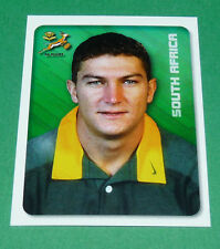 N°22 SOUTH AFRICA SPRINGBOKS MERLIN RUGBY WORLD CUP 1999 PANINI COUPE MONDE