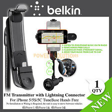 Belkin TuneBase Handsfree FM Transmitter Lightning Connector for iPhone 5 5s SE