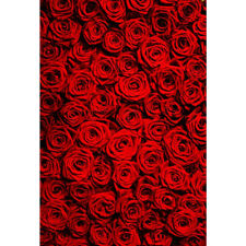 5x7FT Red Rose Wedding Lover Photography Backdrop Photo Background Studio Prop