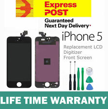 For iPhone 5 Replacement LCD Digitizer Front Screen Assembly Panel + Tools Black