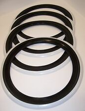 "Black & White wall tyre trims 14"" set 4 ( white band )"