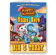 Personalised Name & Age Disney Sheriff Callie A5 Birthday Card