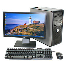 "Dell Desktop Computer Optiplex 755 Windows 10 Pro 8GB 2TB 20"" LCD Monitor"
