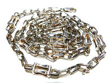 """HEAVY 28"""" DESIGNER GM STERLING SILVER CABLE BOX CHAIN MENS WOMEN NECKLACE"""