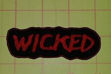 Wicked motorcycle biker embroidered vest patch iron on