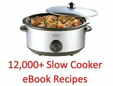 12,000 Plus-Slow Cooker eBook libri di cucina ricette & su un DVD ROM