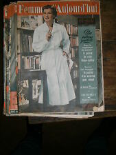 Femmes d'aujourd'hui N° 381 1952 Mode vintage  patrons Couture Broderie Robe