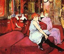 Au salon de la rue des Moulins by Toulouse Lautrec Canvas Giclee Picture Print