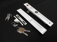 FLUSH PATIO DOOR LOCK SET WHITE