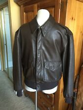 Cooper/SadD. A-2 Brown Flight US Air Force Bomber Leather Goatskin Jacket 40S M
