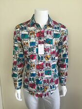 "Robert Graham *1 of 5 EVER MADE* NWT ""Alpine Skiing"" Shirt - Size M"