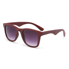Men's Retro Bamboo Wood Print Aviator UV400 Women Sunglasses Eyewear Eye Glasses
