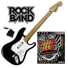 NEW PS3 Rock Band Wireless Fender Stratocaster & Guitar Hero Warriors of Rock