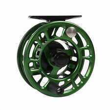 3/4WT Fly Reel CNC Machined Aluminium Green Fly Fishing Reel & Reel Bag