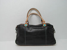 GABS FIRENZE MADE IN ITALY LEATHER CANVAS HANDBAG SHOULDER BAG RARE